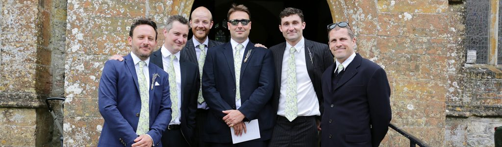 matching ushers ties for a budget wedding