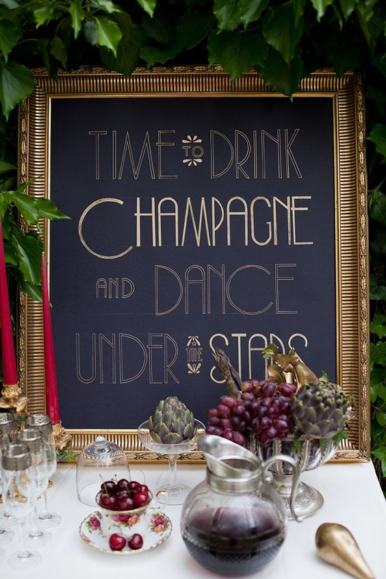 vintage wedding signs