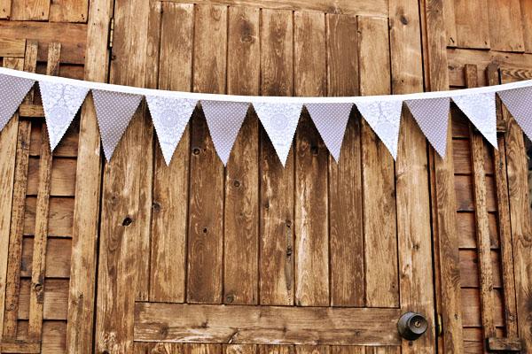 Barn wedding bunting
