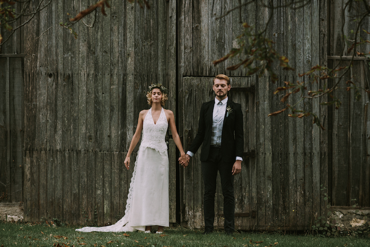 Woodland wedding barn somerset