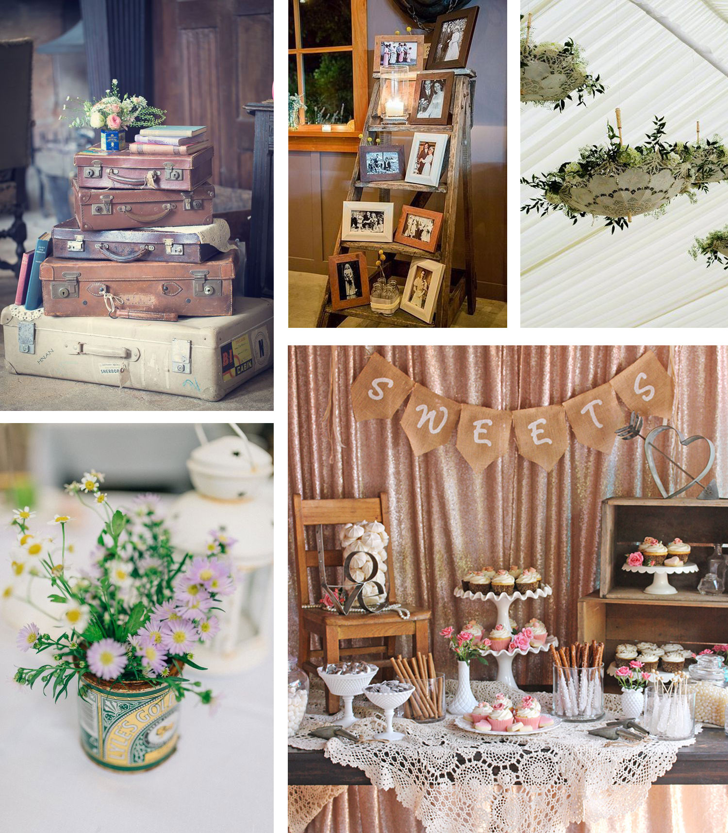 Shabby chic vintage wedding ideas the barn at cott farm for Shabby chic cottage decor