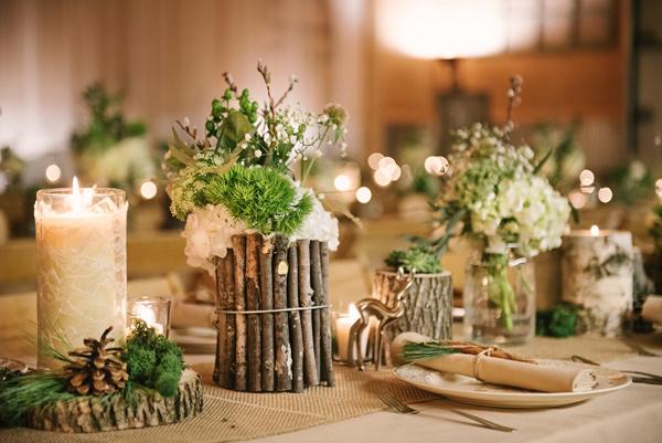 woodland wedding barn