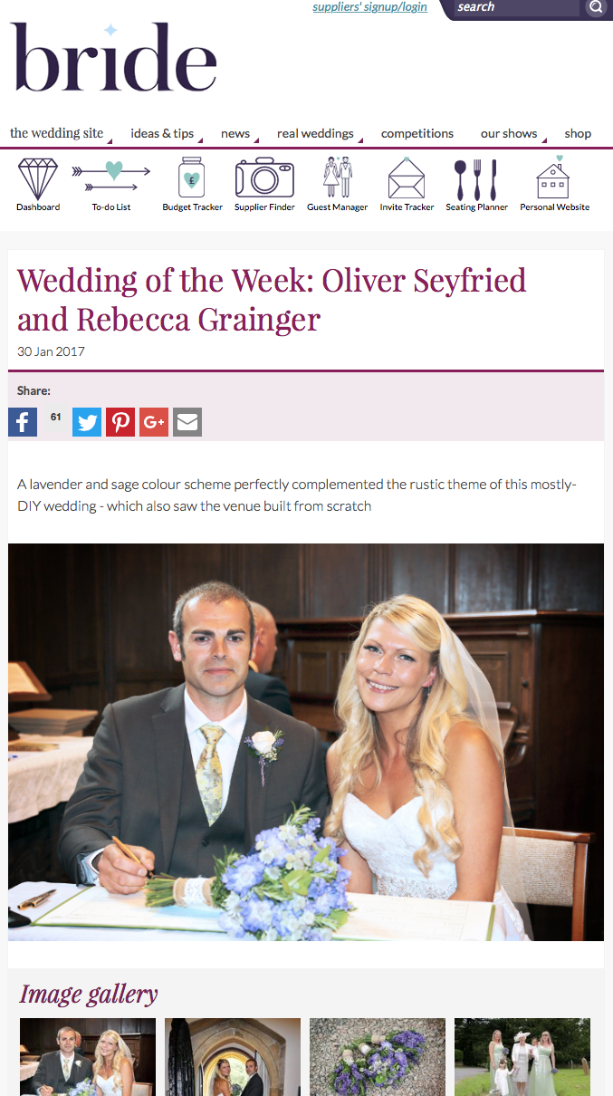 Bride Magazine Wedding of the Week