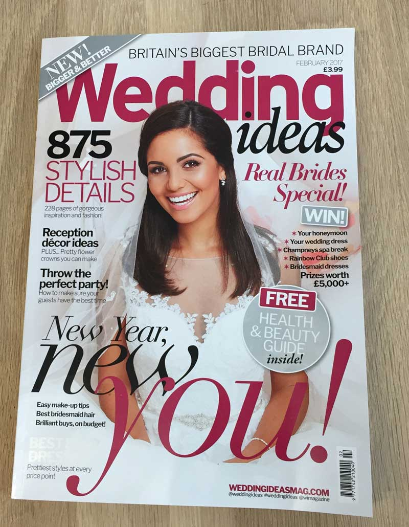 Wedding Ideas Magazine February 2017 The Barn at Cott Farm