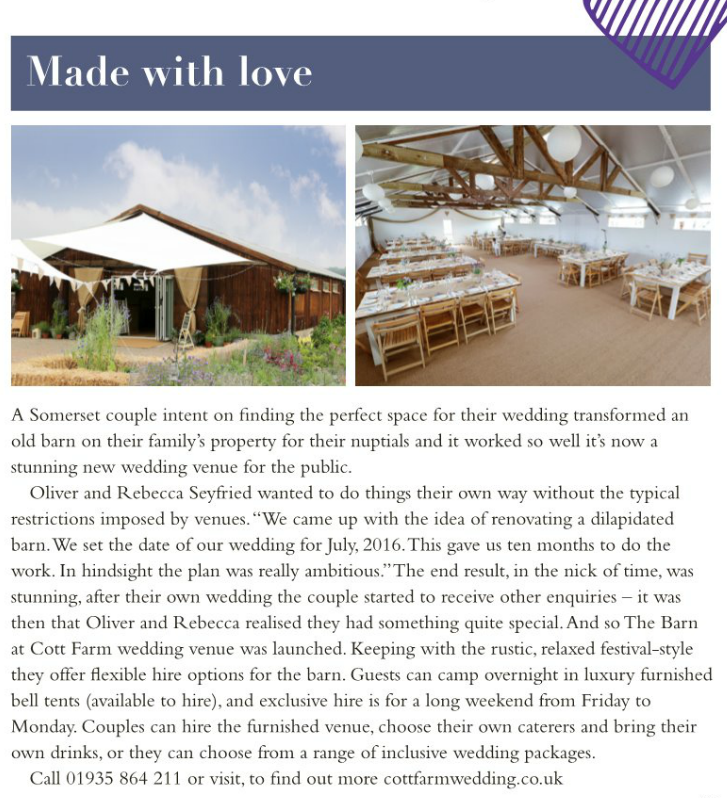 Your Bristol & Somerset Wedding magazine