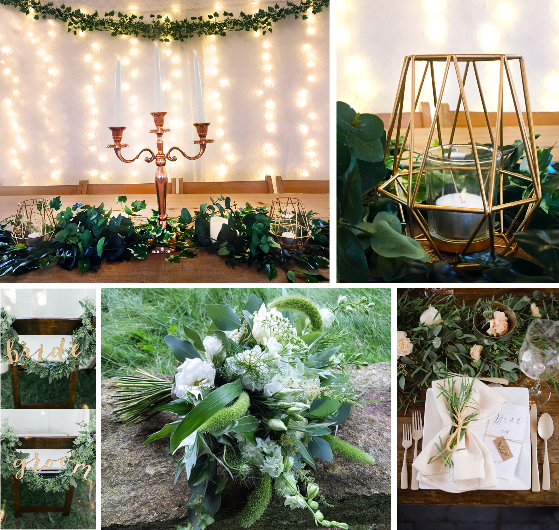 natural green wedding theme