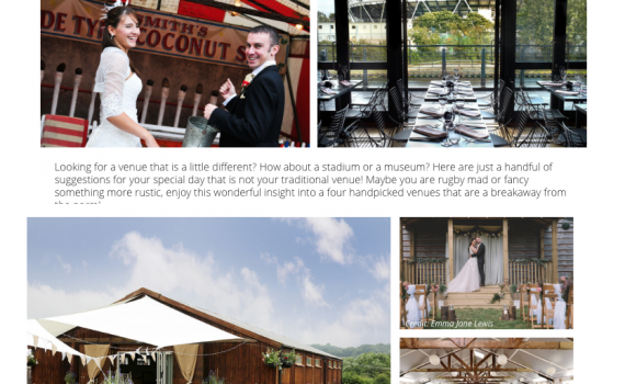 ultimate wedding magazine unusual venues