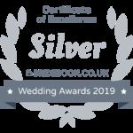 Silver Bridebook Wedding Awards 2019 Badge of Excellence