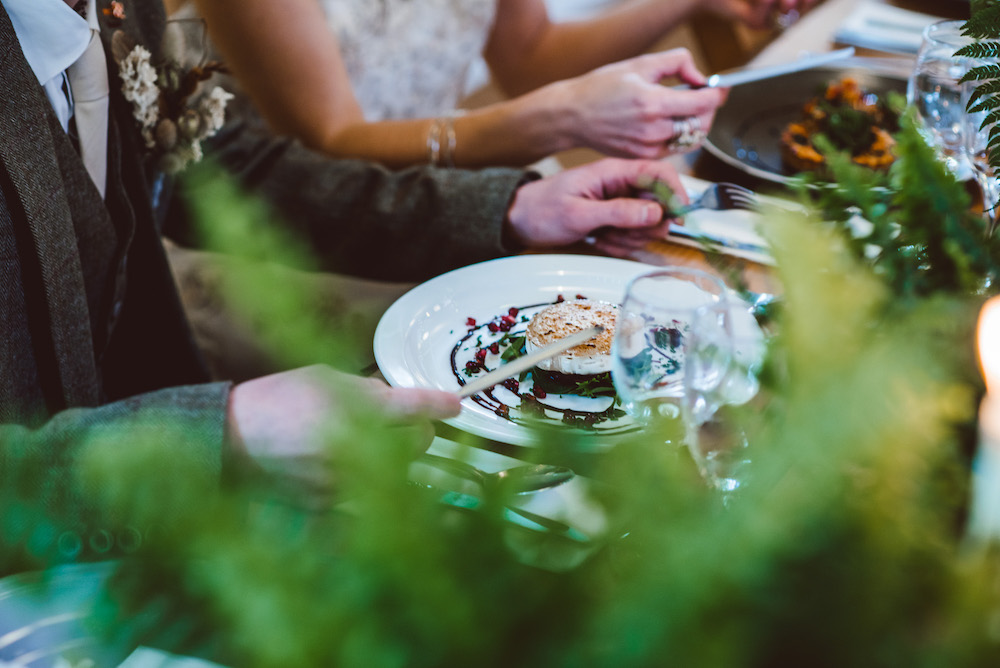 Sustainable wedding food and drink