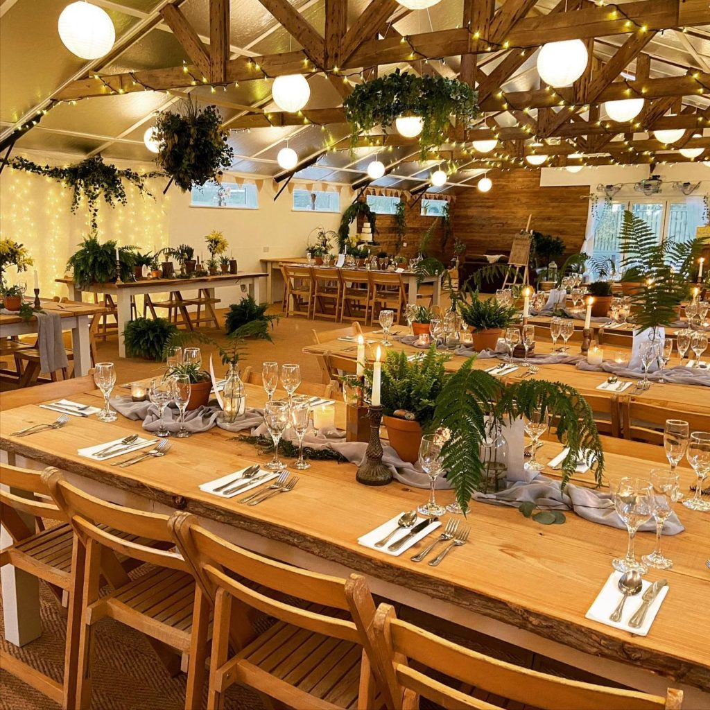 Eco luxe wedding theme