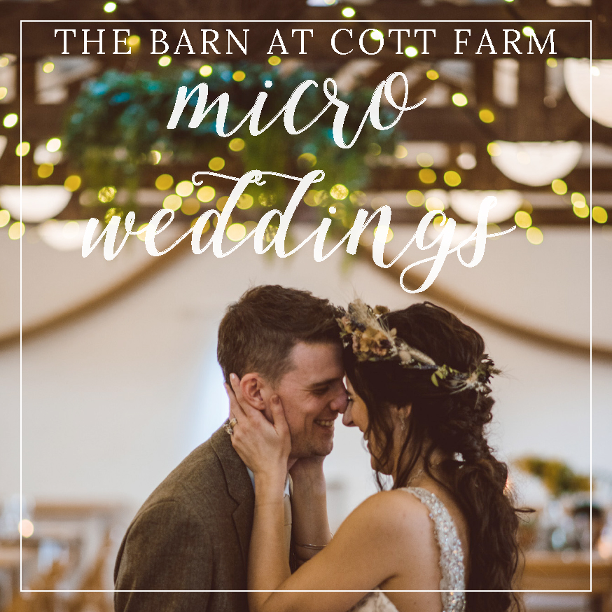 micro wedding at the barn at cott farm in somerset