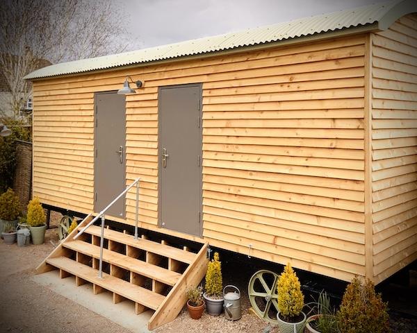 shepherd's hut luxury wedding loos