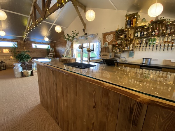 The Barn has a built in licensed bar.